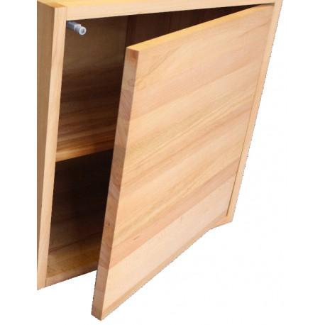 Porte pour cube de rangement avec tag re en bois de h tre massif huil - Cubes en bois de rangement ...