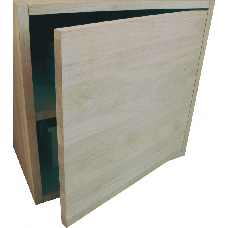 porte pour cube de rangement avec tag re en bois de ch ne massif blanchi. Black Bedroom Furniture Sets. Home Design Ideas