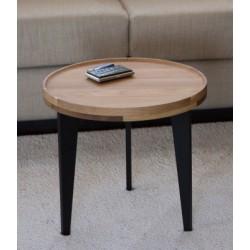 Table basse d'appoint en chêne massif - L40cm/H38cm