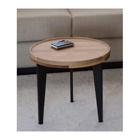 petite table basse d 39 appoint en ch ne massif l40cm h38cm. Black Bedroom Furniture Sets. Home Design Ideas