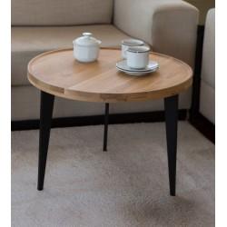 Table basse d'appoint en chêne massif - L60cm/H44cm