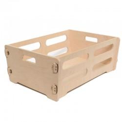 Grande cagette décorative - caisse de rangement - panier en bois de bouleau