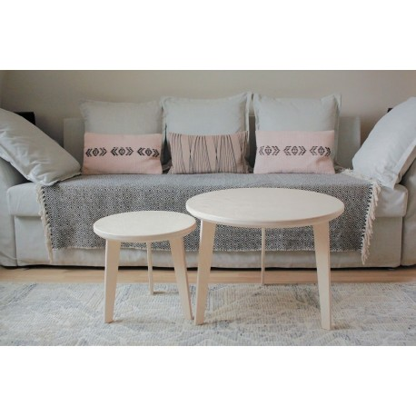 Set de 2 tables basses gigognes scandinaves en bois