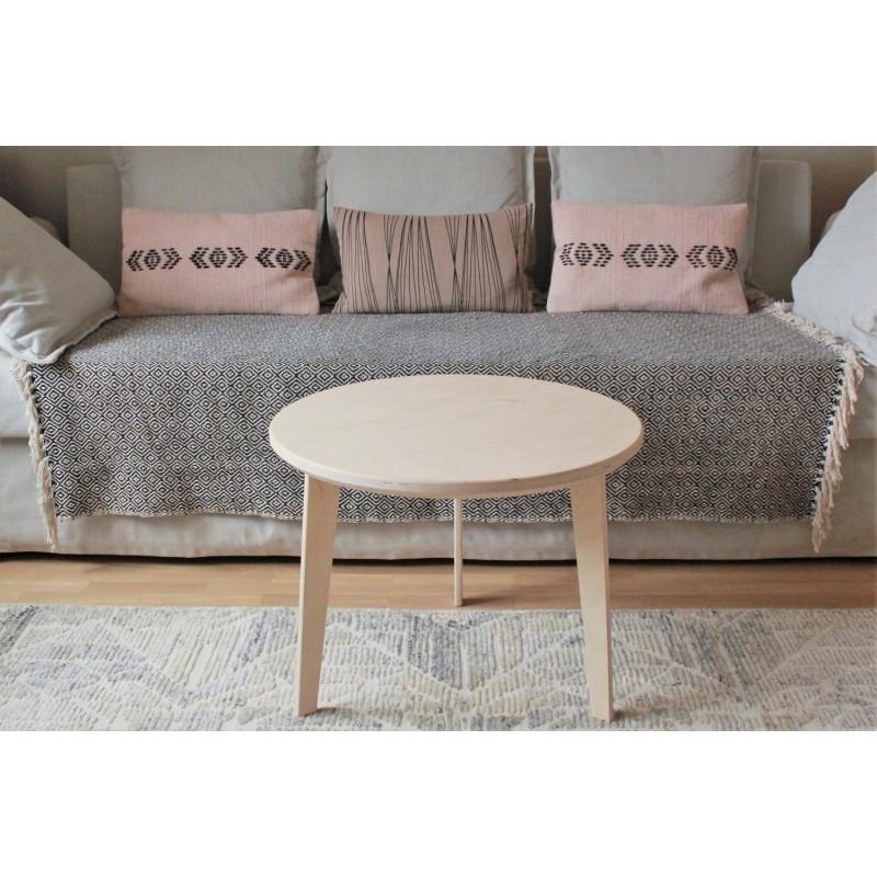 Table H46cm L60cm Bouleau Basse En Scandinave Bois De Ow0Pkn