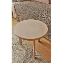 Table basse en hêtre naturel - L40cm/H38cm