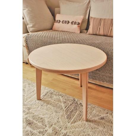 Table basse ronde en hêtre massif - L60cm/H44cm