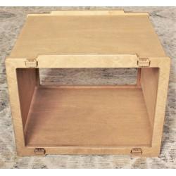 Cube de rangement modulable bois naturel L50-H40-P40