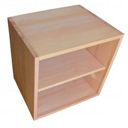 Cube de rangement en hêtre massif avec étagère