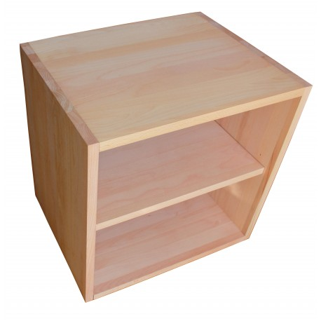 cube de rangement avec tag re en bois de h tre massif huil. Black Bedroom Furniture Sets. Home Design Ideas