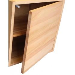 Porte seule pour cube de rangement avec étagère en bois de hêtre massif huilé.