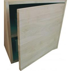Porte seule pour cube de rangement avec étagère en bois de chêne massif blanchi