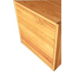 Porte seule pour cube de rangement avec étagère en bois de chêne massif  huilé