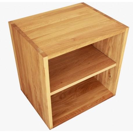 Cube de rangement avec tag re en bois de ch ne massif huil - Etageres en bois massif ...